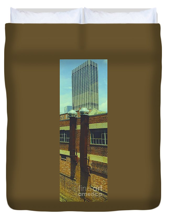 City Duvet Cover featuring the photograph 09032015028 by Debbie L Foreman