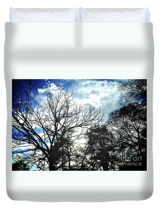 Nature Duvet Cover featuring the photograph 09032015039 by Debbie L Foreman