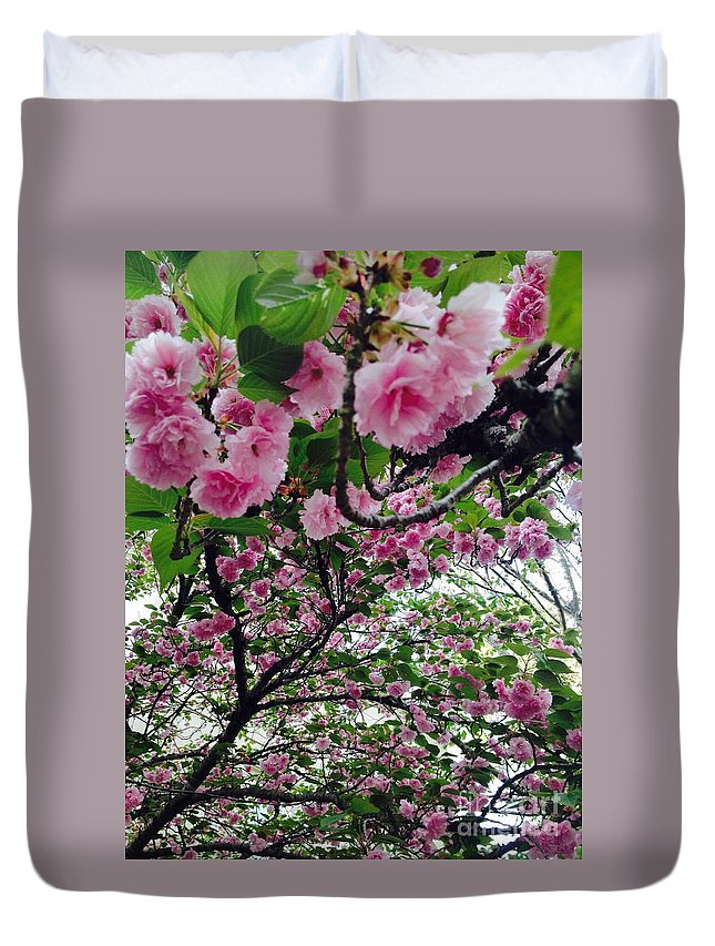 Pink Duvet Cover featuring the photograph 09032015056 by Debbie L Foreman