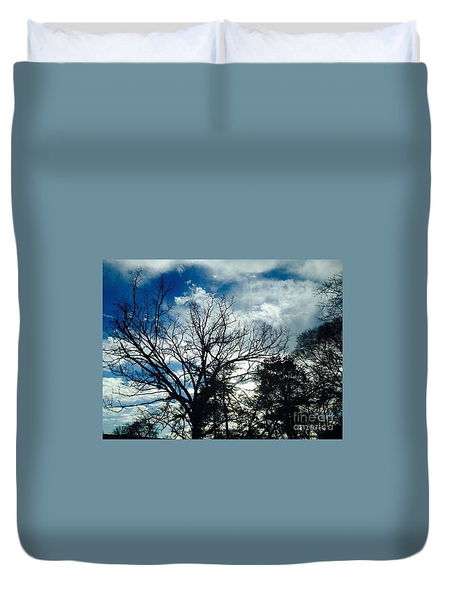 Cloud Duvet Cover featuring the photograph 09032015068 by Debbie L Foreman