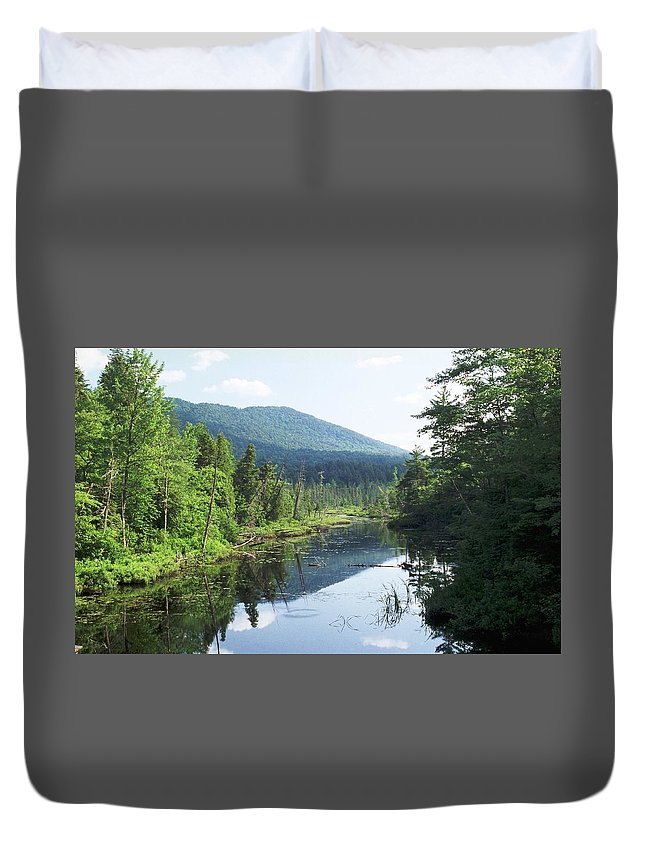 Mountain Duvet Cover featuring the photograph 070506-84 by Mike Davis