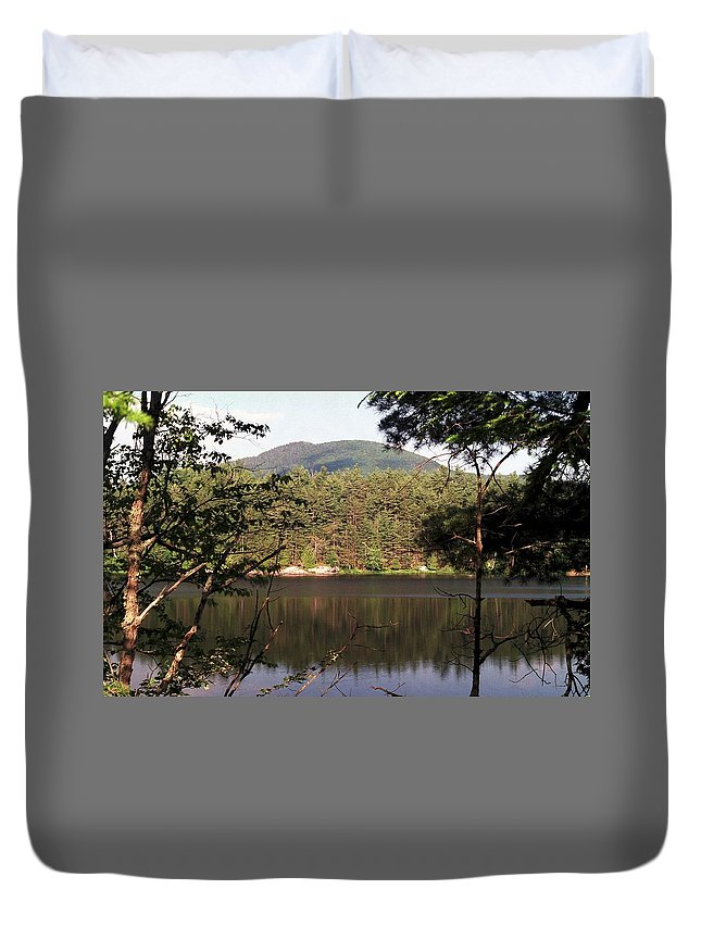 Mountain Duvet Cover featuring the photograph 080706-84 by Mike Davis