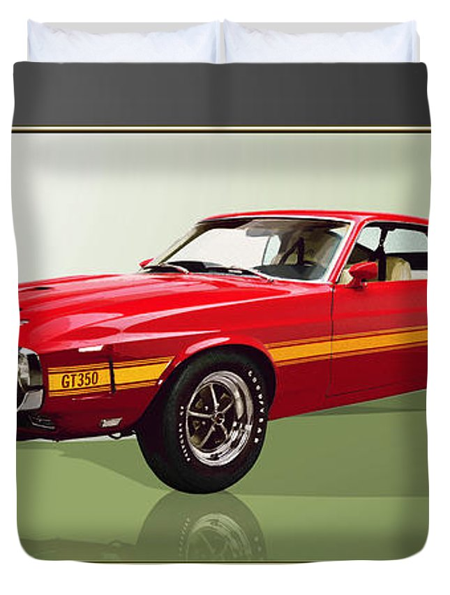 Wheels Of Fortune By Serge Averbukh Duvet Cover featuring the photograph 1969 Shelby v8 GT350 by Serge Averbukh