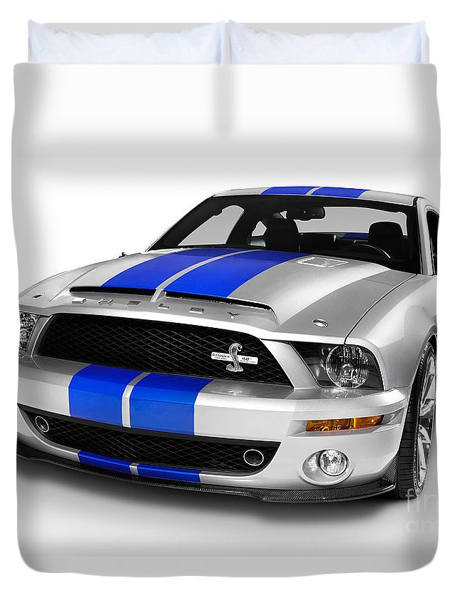 Ford Duvet Cover featuring the photograph 2008 Shelby Ford Gt500kr by Oleksiy Maksymenko