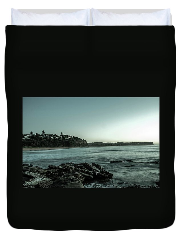 Beach Duvet Cover featuring the photograph Beach Sunrise by Dylan Gage