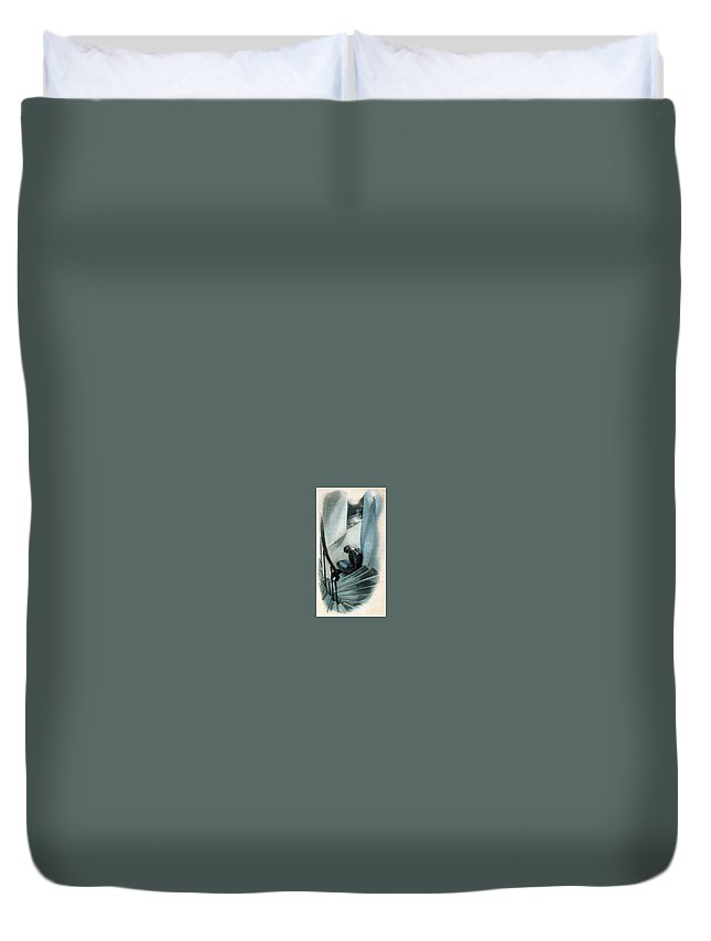 Restraint Duvet Cover featuring the digital art 41588 Carlos Saenz De Tejada by Eloisa Mannion