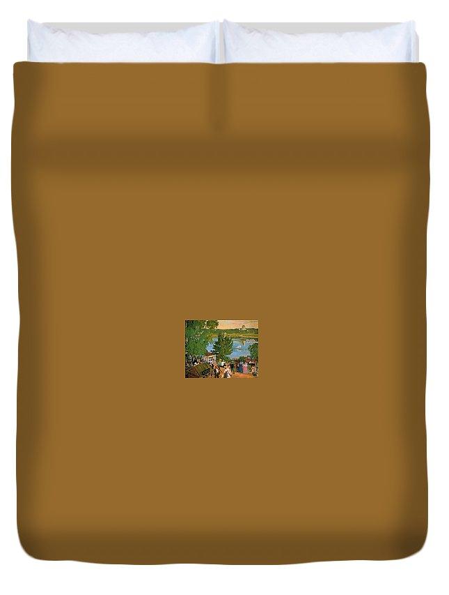 Tree Duvet Cover featuring the digital art 43785 Boris Kustodiev by Eloisa Mannion