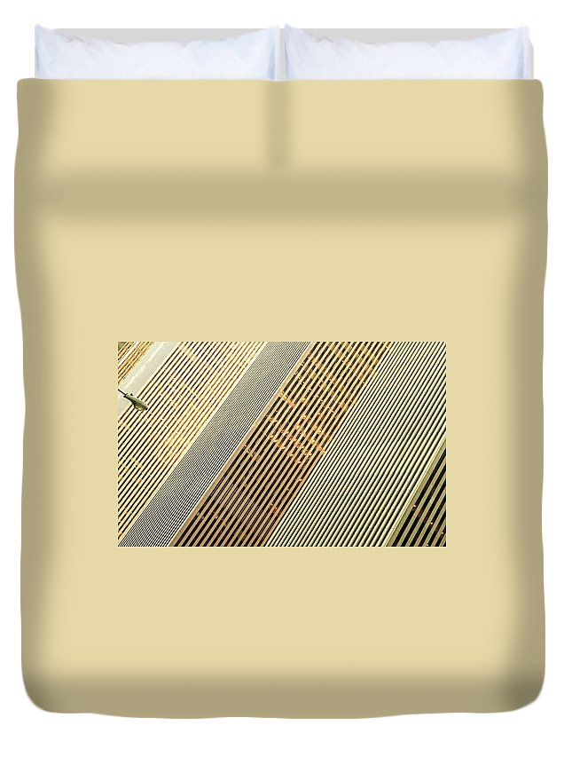 6th Avenue Duvet Cover featuring the photograph 6th Avenue by Michael Jacobs