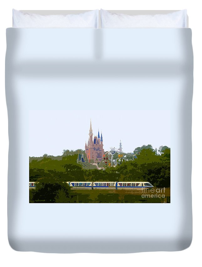 Magic Kingdom Duvet Cover featuring the painting A Land Of Magic by David Lee Thompson