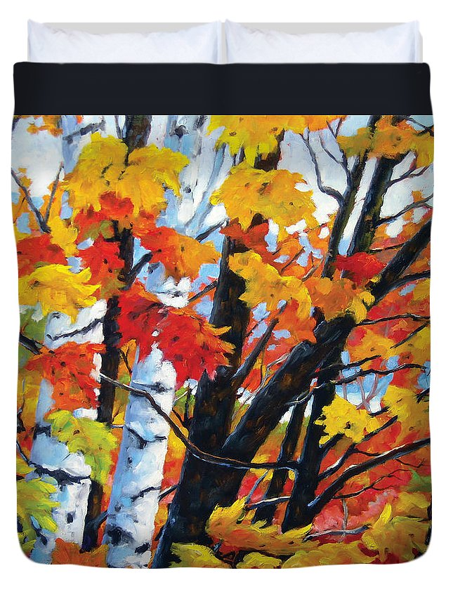 Art Duvet Cover featuring the painting A Touch Of Canada by Richard T Pranke