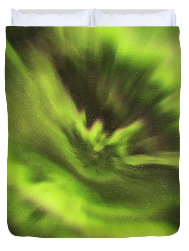 Iceland Duvet Cover featuring the photograph Abstract Aurora by Gunnar Orn Arnason