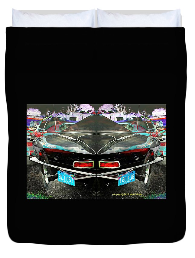 Cars Duvet Cover featuring the photograph Abstract Black Car by Karl Rose