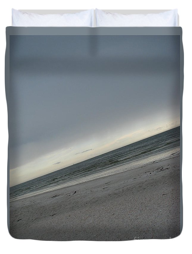 Ocean Duvet Cover featuring the photograph Abstract Sea by Amanda Barcon