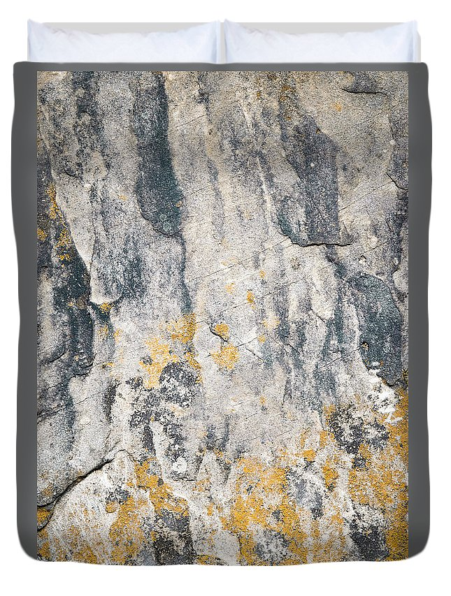 Material Duvet Cover featuring the photograph Abstract Texture Old Plaster by Jozef Jankola