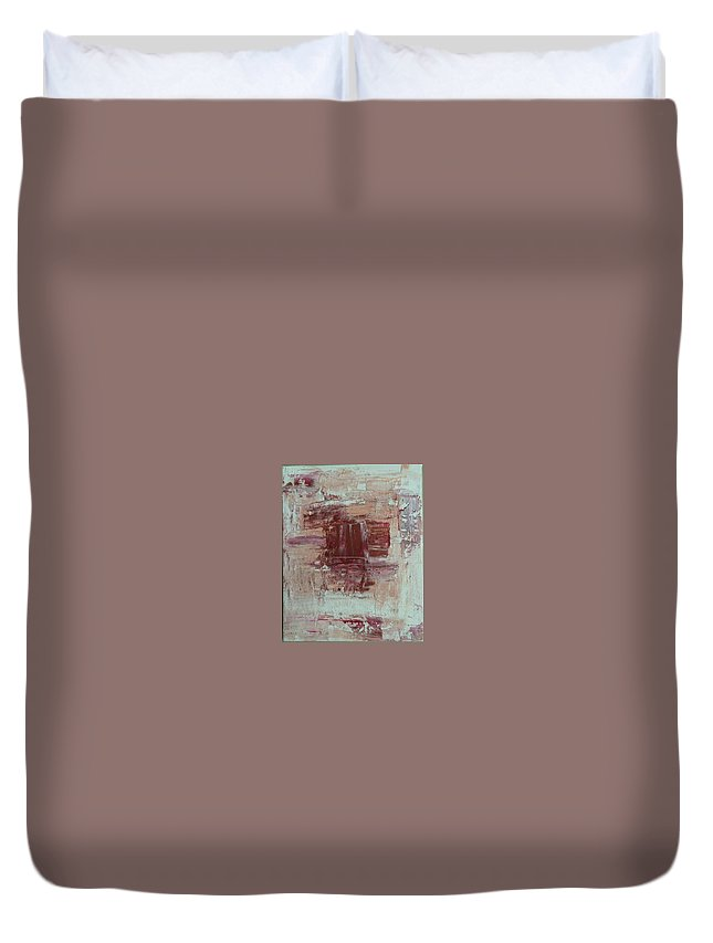 Abstract Duvet Cover featuring the painting Abstract by Yesha Patel