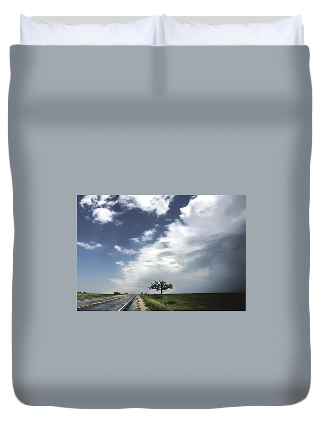 Landscape Duvet Cover featuring the photograph After The Storm by Al Mueller