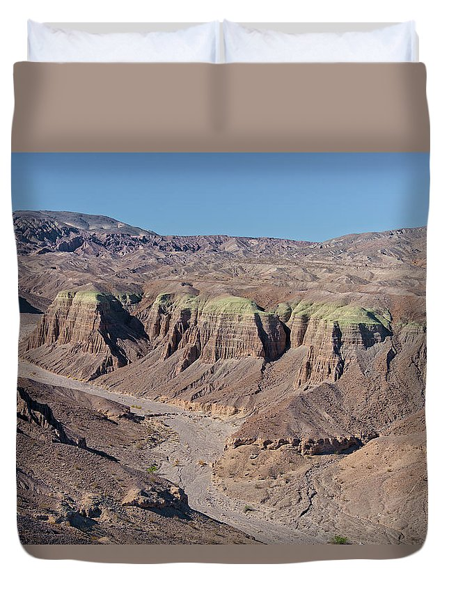 Aerial Shots Duvet Cover featuring the photograph Afton Canyon by Jim Thompson