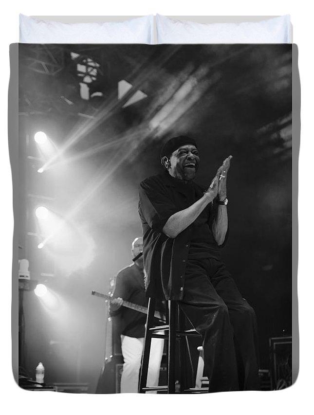 Al Jarreau Duvet Cover featuring the photograph Al Jarreau by Jim Clark