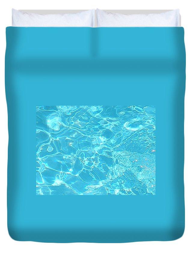 Water Duvet Cover featuring the photograph Aquatica by Maria Bonnier-Perez