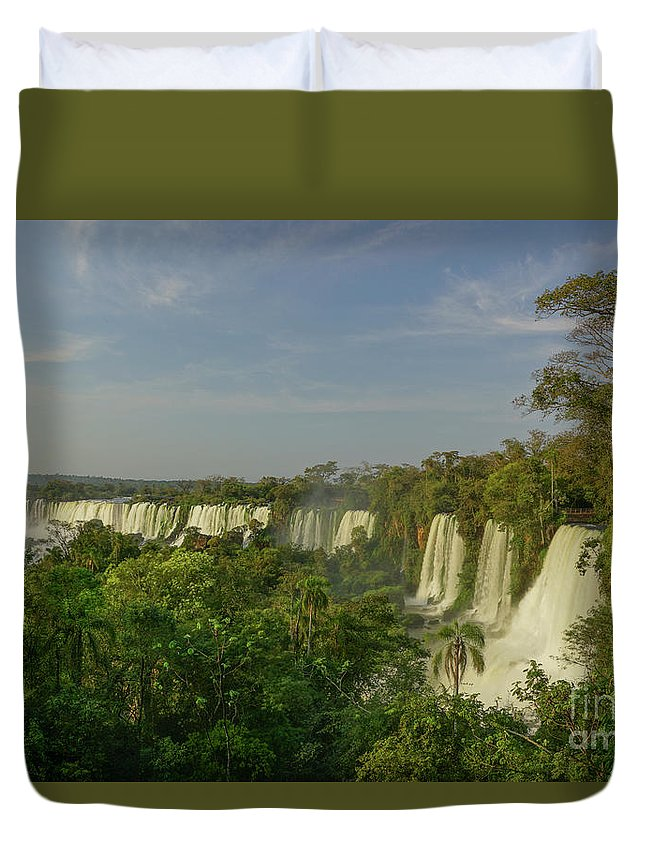 Iguacu Falls Duvet Cover featuring the photograph Around The Bend by Brian Kamprath