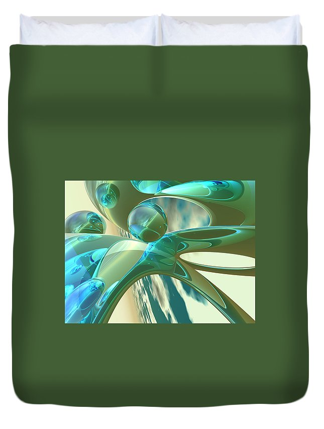 Scott Piers Duvet Cover featuring the painting Ashton by Scott Piers