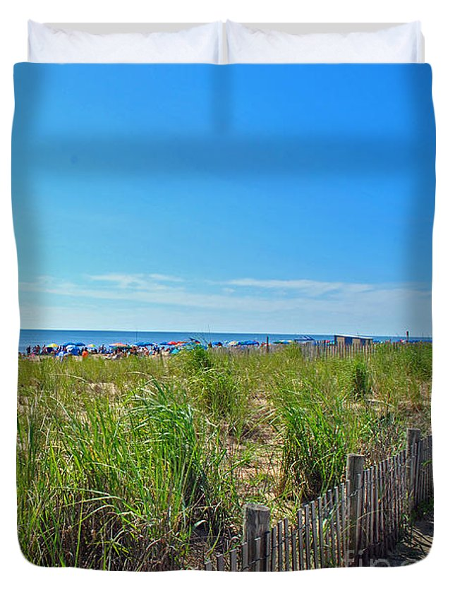 Rehoboth Duvet Cover featuring the photograph At The Beach by Jost Houk