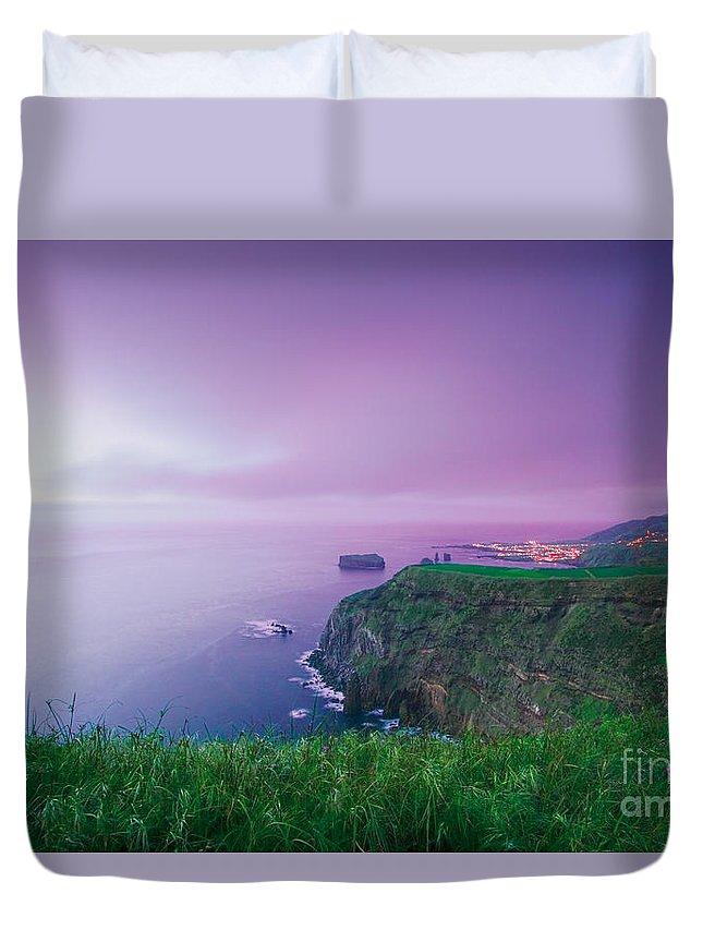 Azoren Duvet Cover featuring the photograph Azores Coastal Landscape by Gaspar Avila