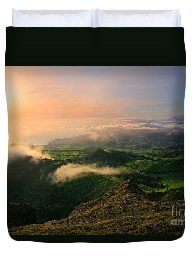 Coast Duvet Cover featuring the photograph Azores Islands Landscape by Gaspar Avila