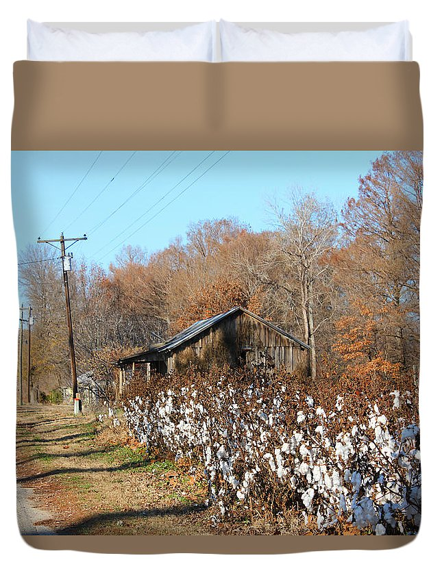 House Duvet Cover featuring the photograph Back Roads Of Ms by Karen Wagner
