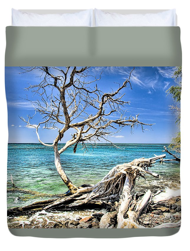 Maui Duvet Cover featuring the photograph Back To The Sea by Keith Ducker