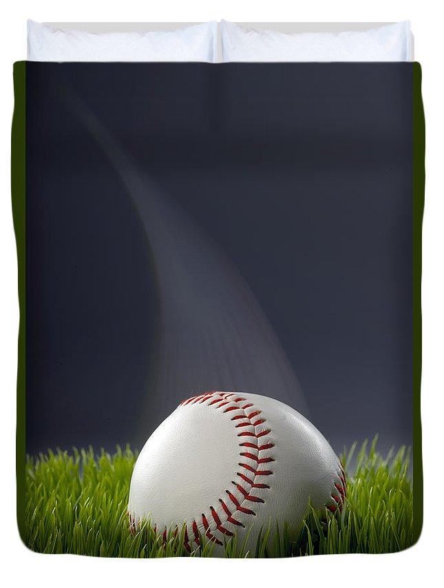 Hardball Duvet Cover featuring the photograph Baseball by W Scott McGill