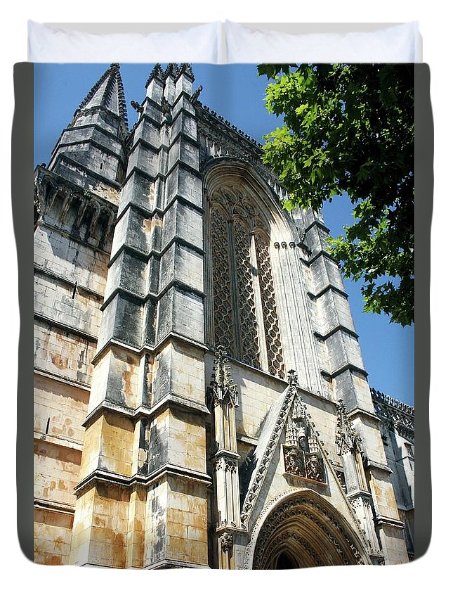 Architecture Duvet Cover featuring the photograph Batalha Monastery by Raquel Daniell