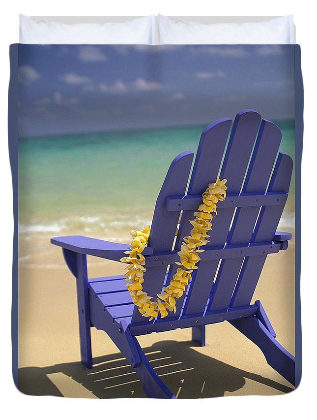 Afternoon Duvet Cover featuring the photograph Beach Chair by Dana Edmunds - Printscapes