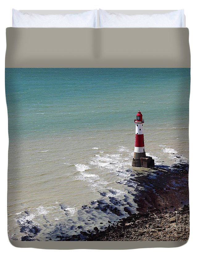 Lighthouse Duvet Cover featuring the photograph Beachy Head Lighthouse by James Brunker