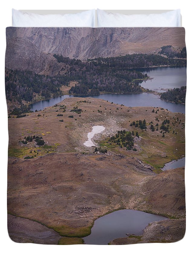Montana Duvet Cover featuring the photograph Beartooth Highway Cirques by Tracy Knauer