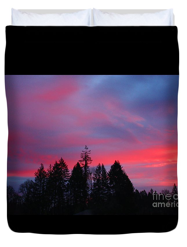 Sunrise Duvet Cover featuring the photograph Beautiful Sunrise by Nick Gustafson