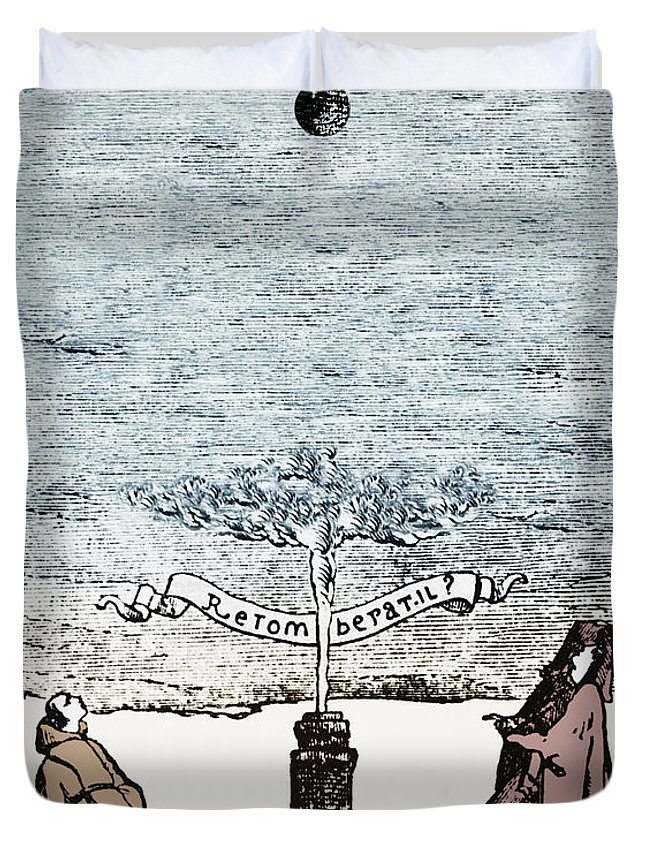 Historical Duvet Cover featuring the photograph Behavior Of Falling Bodies by Omikron