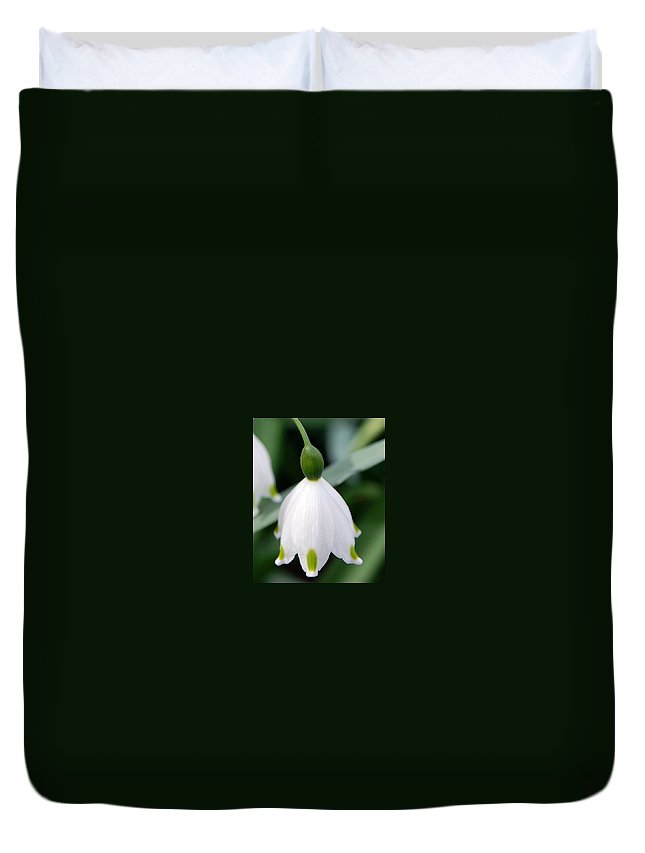 Bell Flower Duvet Cover featuring the photograph Bell Flower by Amy Fose