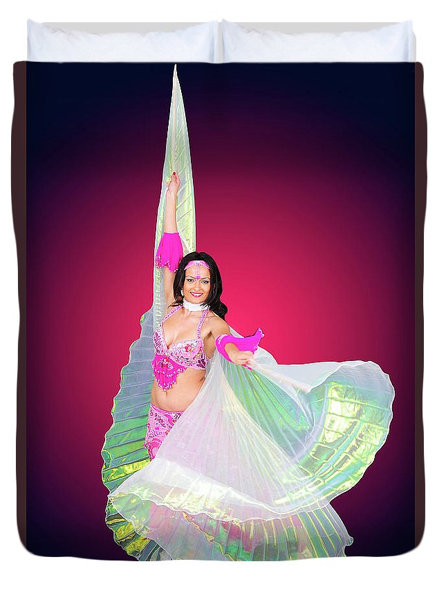 Art Duvet Cover featuring the photograph Belly Dancer by Ilan Rosen