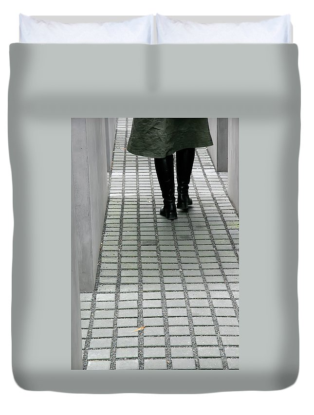 Berlin Duvet Cover featuring the photograph Berlin Memorial by KG Thienemann