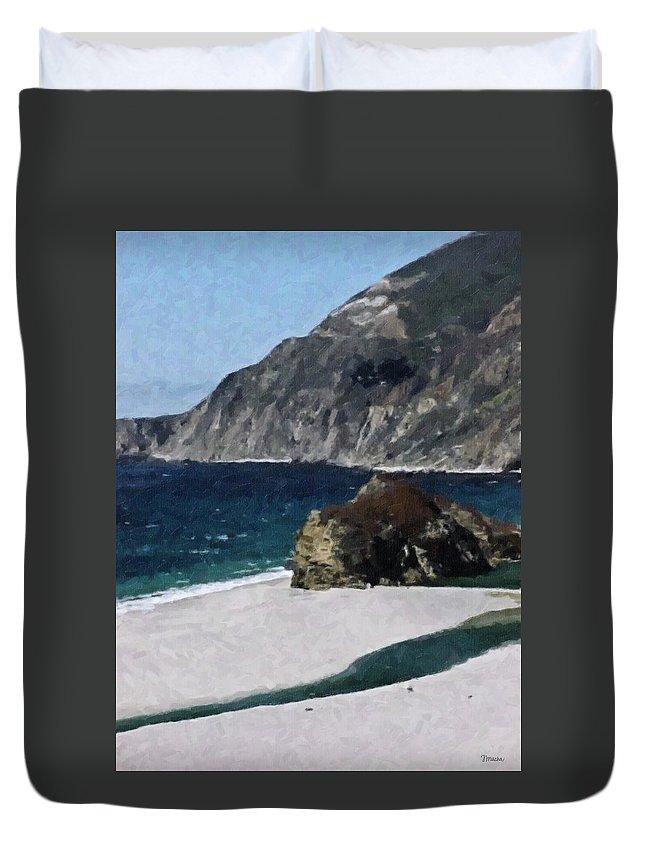 Big Duvet Cover featuring the digital art Big Sur California by Teresa Mucha