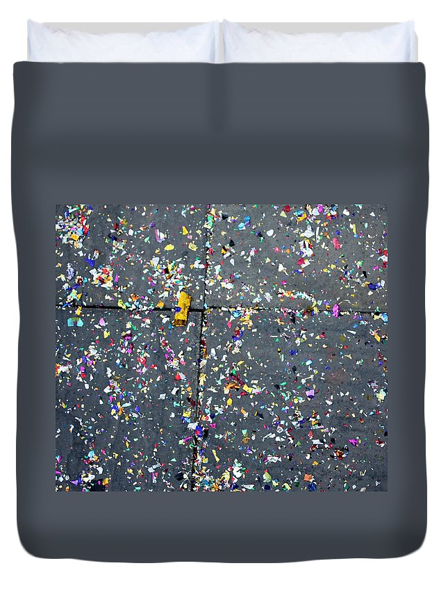 Abstract Duvet Cover featuring the photograph Block Party by Pat Purdy