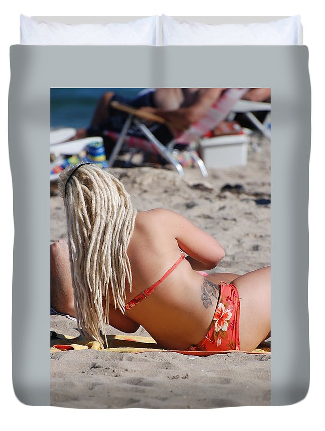 Girls Duvet Cover featuring the photograph Blondie Braids by Rob Hans