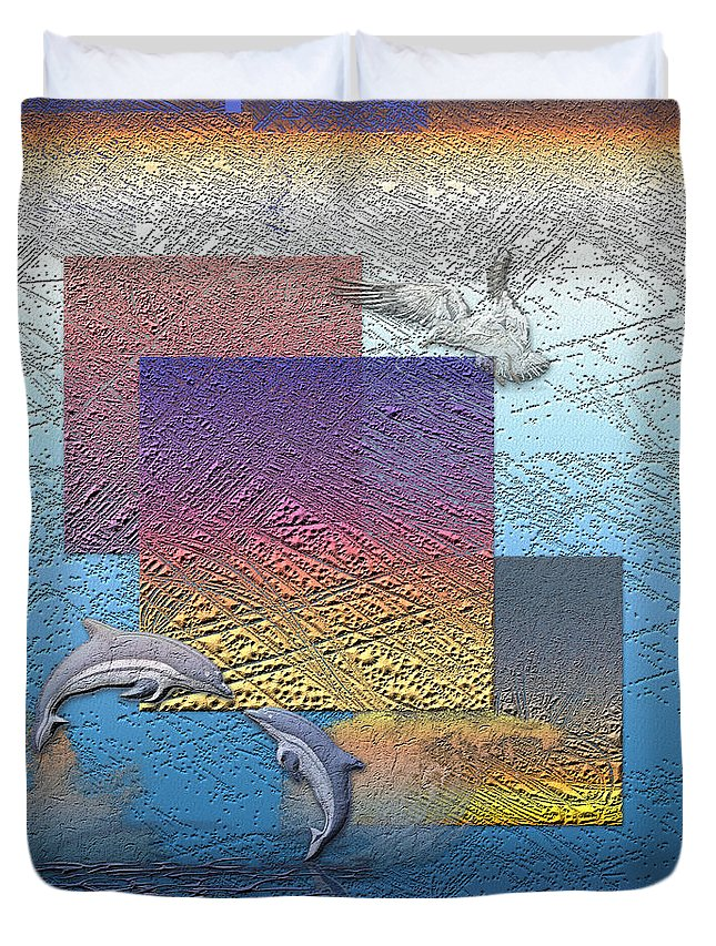 �from Dusk Till Dawn� Collection By Serge Averbukh Duvet Cover featuring the photograph Blue Lagoon Sunrise by Serge Averbukh