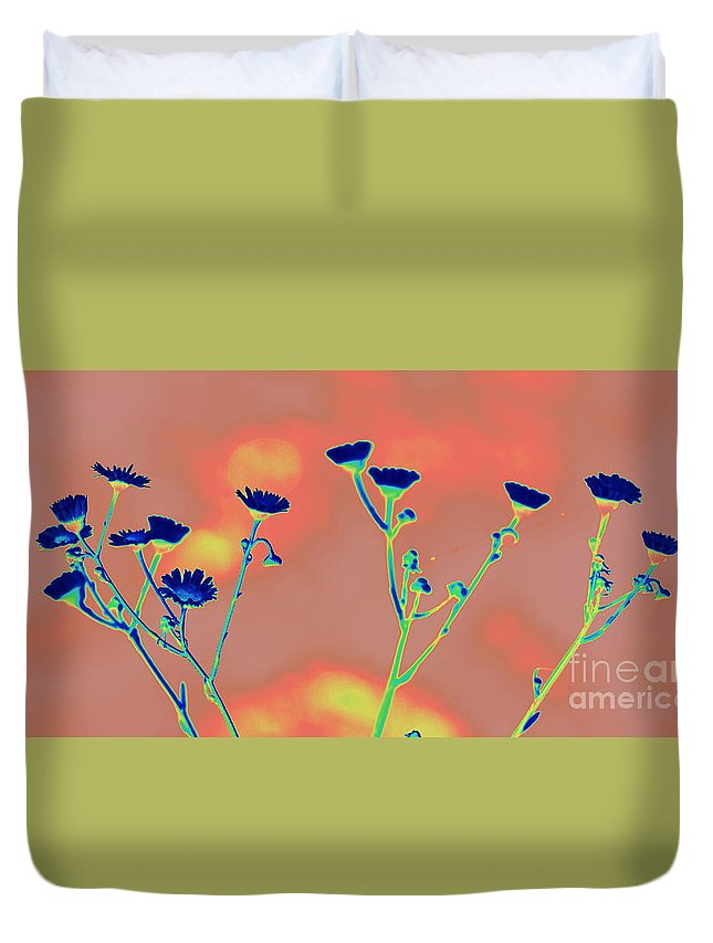 Blue Duvet Cover featuring the photograph Blue Mood by Anita Goel