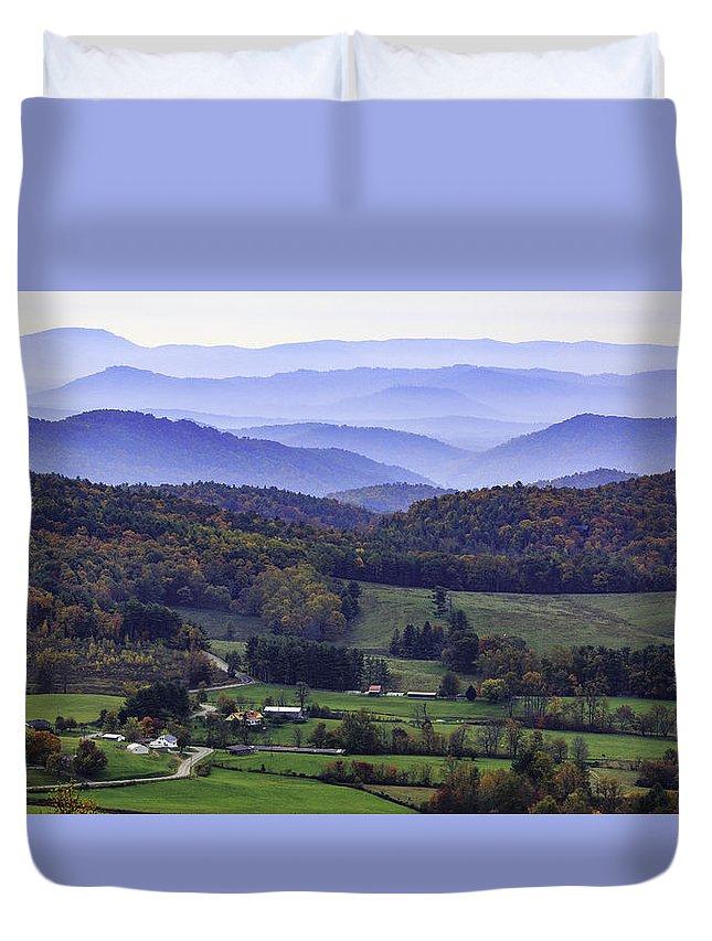 Mountains Duvet Cover featuring the photograph Blue Ridge Mountains by Robert Mullen