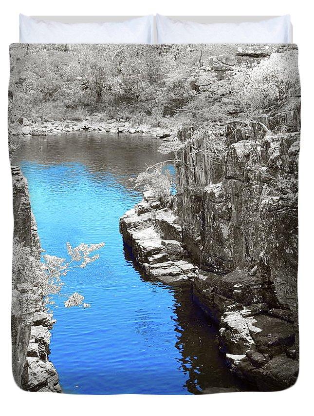 Digital Art Duvet Cover featuring the digital art Blue River by Beto Machado