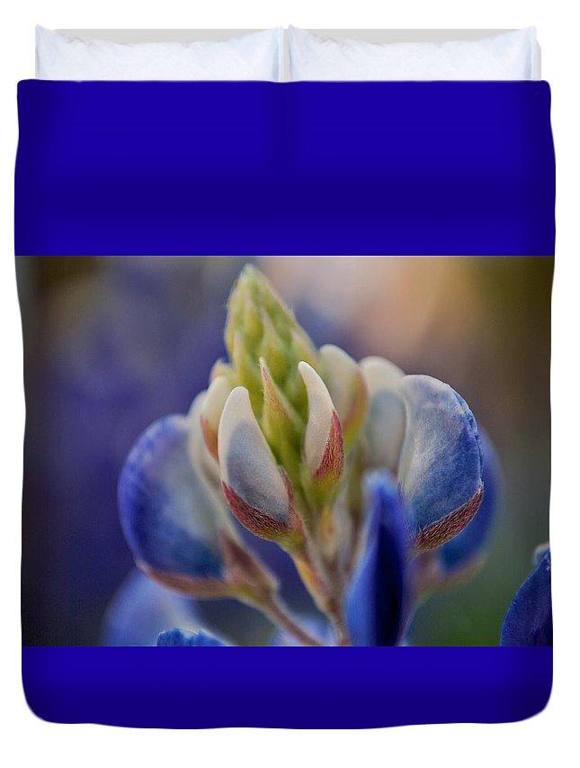 Bluebonnets Duvet Cover featuring the photograph Bluebonnet by Donna Shahan