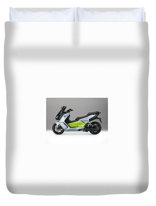 Bmw C Evolution Duvet Cover featuring the photograph BMW C Evolution by Mariel Mcmeeking