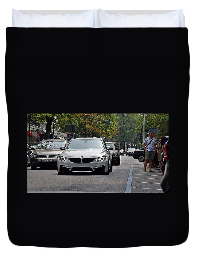 Bmw Duvet Cover featuring the photograph Bmw M3 by Yannik Leven